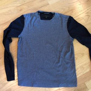 Men's Shirt navy and heathered blue